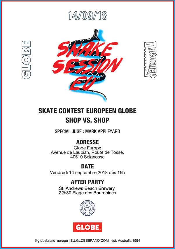 Snake Session skate globe Seignosse contest