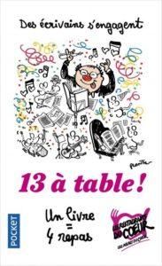 livre 13 à table au profit des restos du coeur édité par Pocket 2018