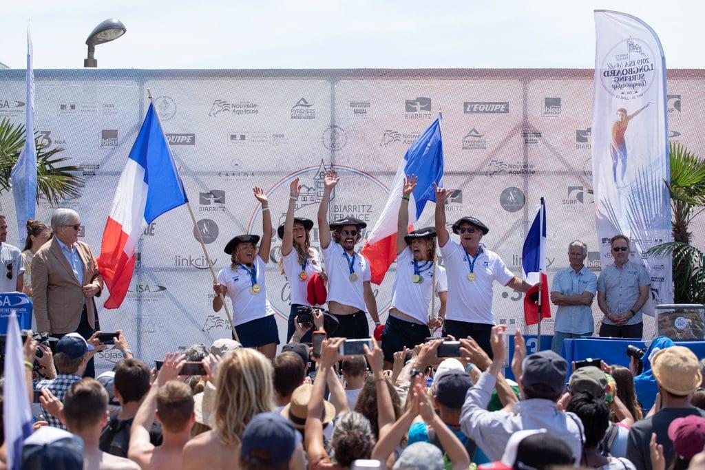 L'équipe de France après sa victoire sur l'ISA ALOHA CUP © Pablo Jimenez (ISA)