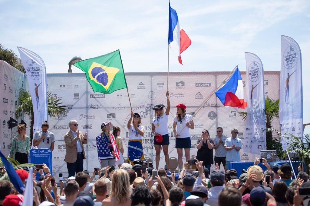 Podium féminin individuel © Pablo Jimenez (ISA)