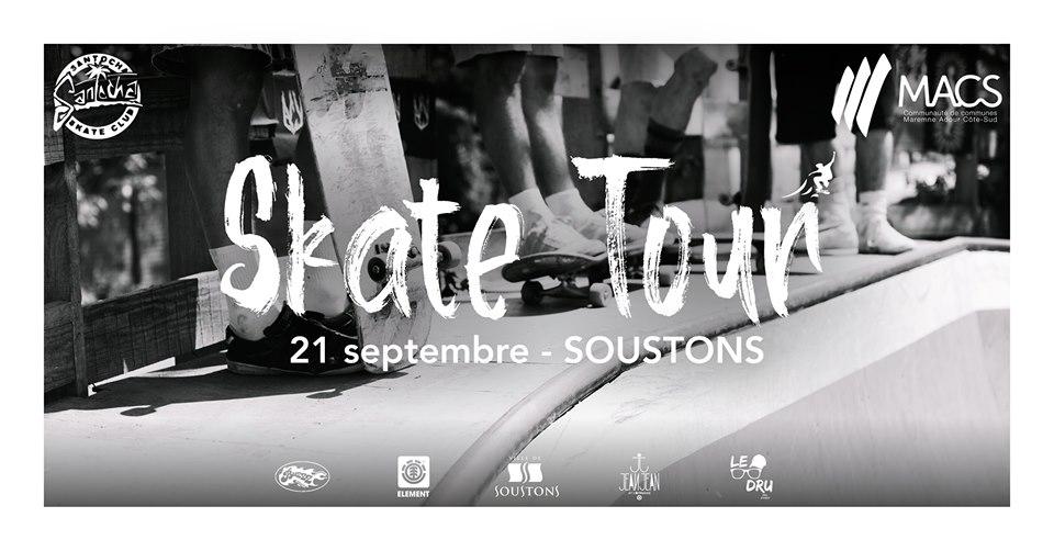 Lancement du skate tour par Macs et le santocha skate club samedi 20 septembre à Soustons