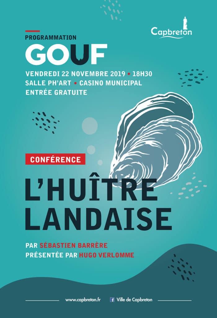 conférence gouf de Capbreton : l'huitre landaise