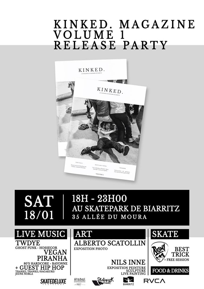 kinked magazine release party biarritz