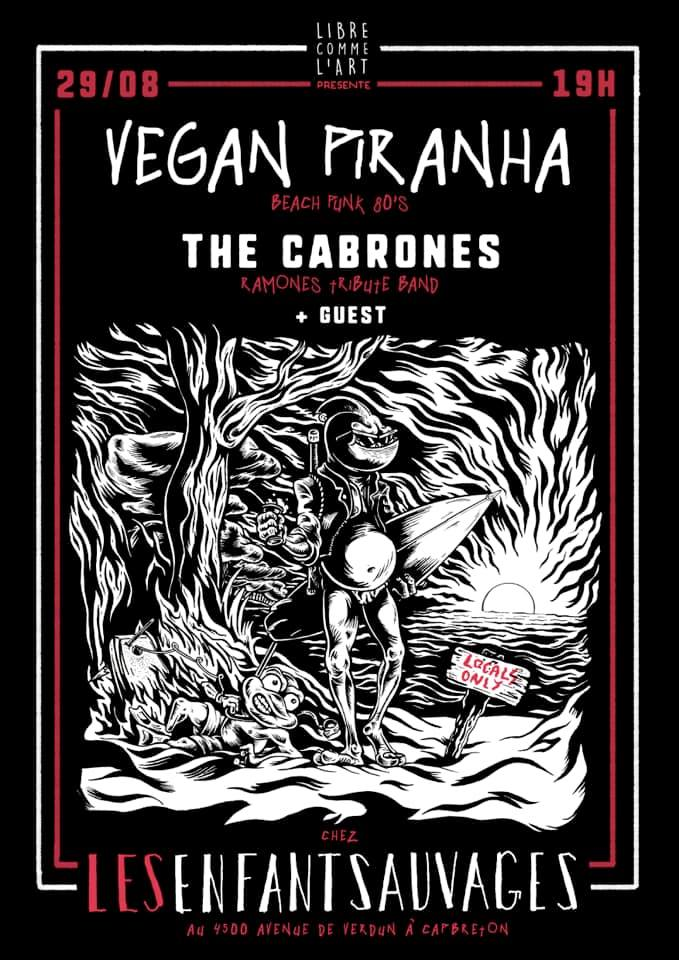the cabrones vegan piranha enfants sauvages capbreton
