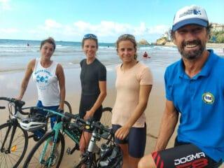 Départ Biarritz Vélo'odyssée water family