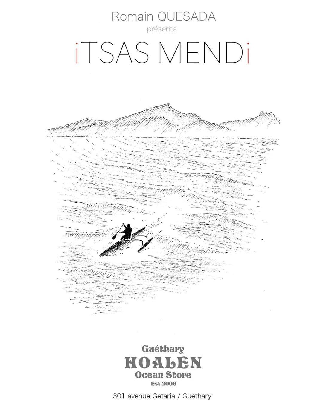 Itsas Mendi Romain Quesada affiche exposition