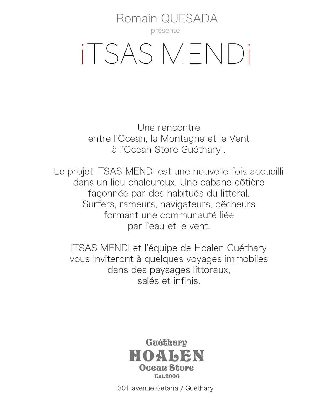 Itsas Mendi Romain Quesada affiche verso exposition