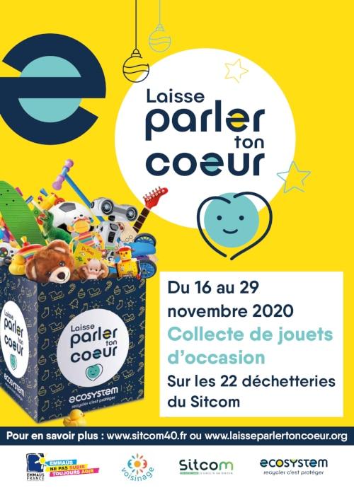 Affiche collecte de jouets sitcom landes