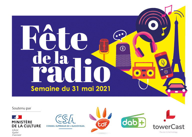 Affiche fete de la radio